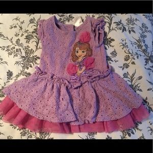 2T Sofia the First Puffy Pink Dress
